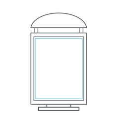 road advertising board icon vector image
