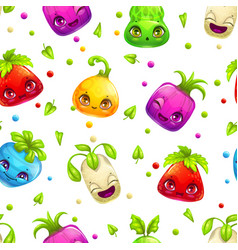 seamless pattern with cute cartoon colorful bright vector image