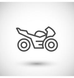 Sport motorcycle line icon vector image vector image