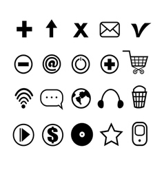 stok vektor little different icons vector image vector image