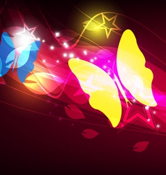 butterfly layout design vector image vector image