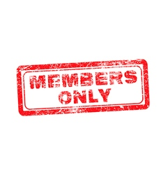 members only red grunge rubber stamp vector image vector image
