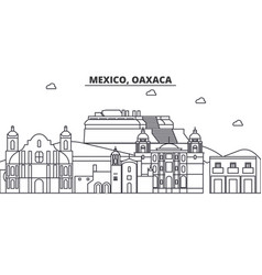 mexico oaxaca architecture line skyline vector image