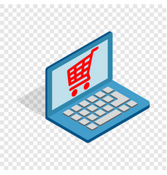 online shopping in laptop isometric icon vector image