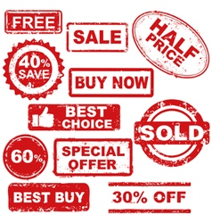 sale stamps vector image vector image