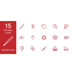 15 recreation icons vector