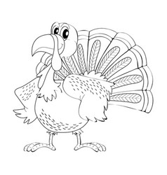 Animal outline for turkey vector