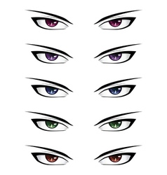 Anime male eyes2 vector image