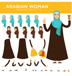 arabian woman character constructor vector image