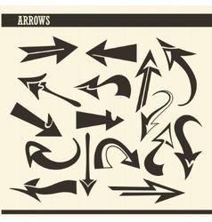 Arrow set vector