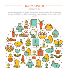 Banner easter with your text vector