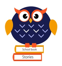 Beautiful Cute school Owl vector image
