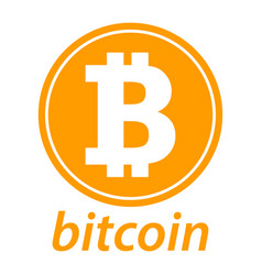 Bitcoin icon coin logo crypto currency symbol vector