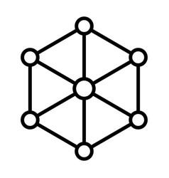 blockchain node line icon minimal pictogram vector image