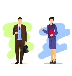 Business woman and man vector