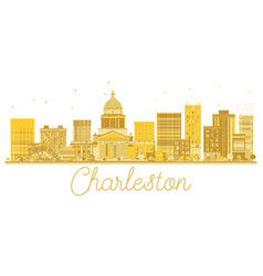 Charleston west virginia usa city skyline golden vector