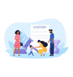child custody abstract concept vector image