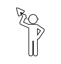 Construction worker with spatula avatar vector