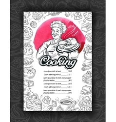 Cooking cuisine Design menu restaurant or cafe vector