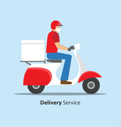 delivery during covid-19 coronavirus concept man vector image