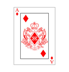 Diamonds ace vector