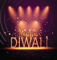 Diwali background with spotlights 2109 vector