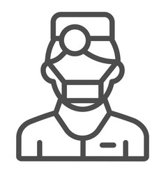 Doctor line icon man isolated vector