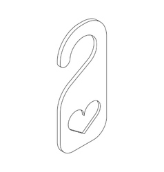 Door hanger with heart icon isometric 3d style vector