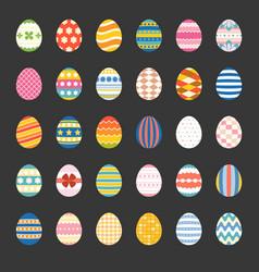 easter eggs set 2 vector image