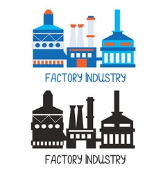 Factory icon for logo or design element vector