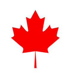 flat design canada flag maple leaf icon vector image