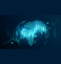 Futuristic concept of global network vector