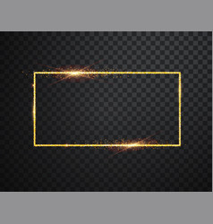 glowing magic square frame glowing neon vector image
