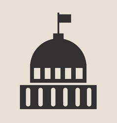 Government flat icon vintage design vector