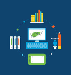 Graphic design training and implementation tools vector
