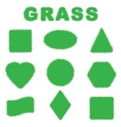 Green grass banners vector