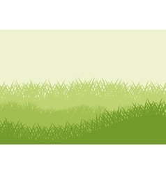 Green grass plant design vector image