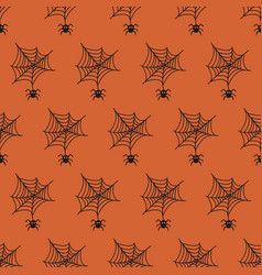 Halloween seamless patterns with cobweb vector