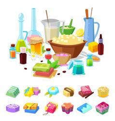 handmade soap homemade hygiene aroma vector image