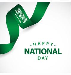 Happy saudi arabia independent day template design vector