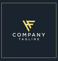 hf or cf triangle logo vector image