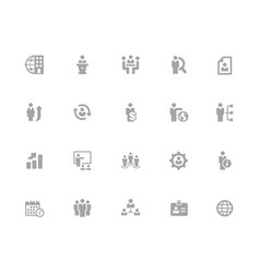 icons set human resources and business vector image