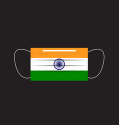 india flag printed on a mask vector image