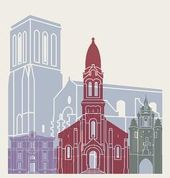 La Rochelle skyline poster vector image