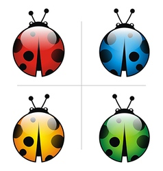 Ladybug animal logo design vector