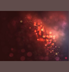 magic dark background with bokeh and stars vector image