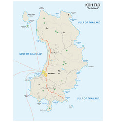 Map thai island koh tao vector