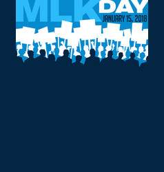 martin luther king day protest march vector image