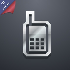 Mobile phone icon symbol 3D style Trendy modern vector