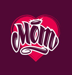 Mom tattoo style lettering vector